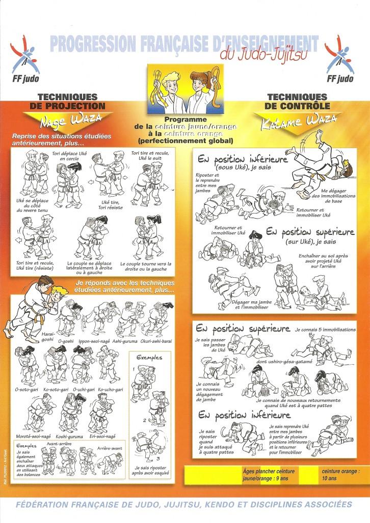 Judo : de la ceinture jaune à la ceinture orange