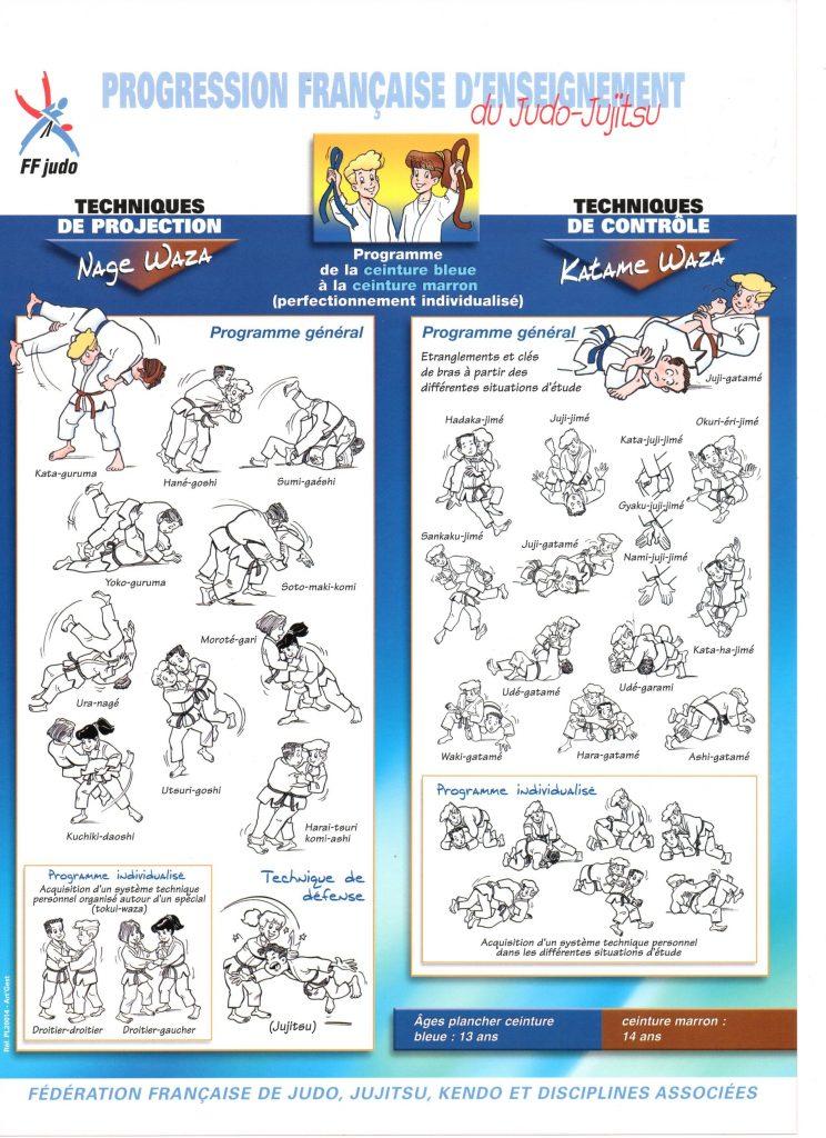 judo-Planches progression française d'enseignement-5-Planche Ceinture Bleu vers Marron
